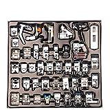 CCMART Professionelle Inländische 42pcs Nähmaschine Presser Füße Set für Bruder, Babyschloss, Sänger, Elna, Toyota, neues Zuhause, Einfachheit, Janome, Kenmore und White Low Shank Nähmaschine