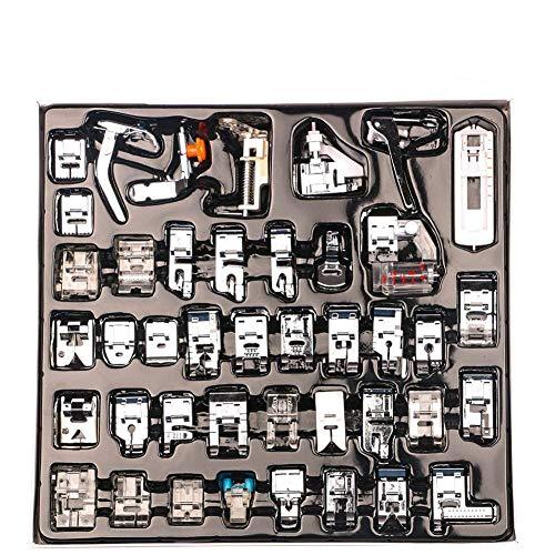 Ccmart set di piedini per macchina da cucire professionali da interno da 42 pezzi per brother,baby lock,cantante,elna,toyota,nuova casa,semplicità,janome,kenmore e white low shank sewing machine