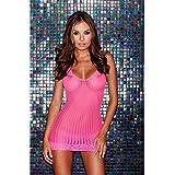 Lap Dance, Women's Lace Mini Dress, One Size, Hot Pink