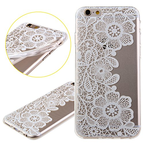iPhone 6S Hülle,iPhone 6 Hülle [Scratch-Resistant],iPhone 6S 6 Hülle 4.7, ISAKEN iPhone 6S iPhone 6 4.7 Ultra Slim Perfect Fit Christmas Weihnachtstag Geschenk Muster Malerei TPU Clear Transparent Pro Blumen N