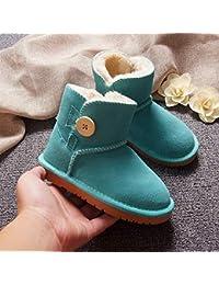 Zapatos de Nieve para Niños Pequeños para Niños Zapatos de Mujer Y Zapatos Gruesos para Bebés,Re,18.3cm