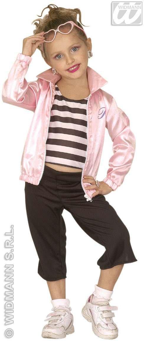 JAZZ 50s GIRL COSTUME (4-5yrs/5-7yrs) (jacket shirt pant)