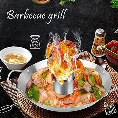 Qiaoniute Grillzubehör Grillständer Edelstahl-Grillwannenset Grill tragbarer Grill abnehmbares Backblech for Picknick-Grill im Freien Grillwerkzeug Grillutensilien