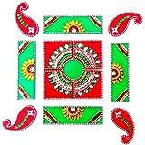 SM Craft Creations Acrylic Kundan Rangoli (Spl. Design2)