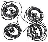 flowign schleifenlose Schnürsenkel 120cm Schuhbänder Set 4x Schwarz mit Schnellschnürsystem Schnellverschluss ohne binden