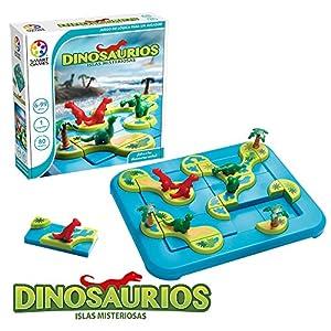Games-SG282ES Dinosaurios-Smart Games, educativo para niños, juegos de mesa infantiles, niño, smartgames, juguete puzzle para pequeños, Miscelanea (Lúdilo SG282ES)
