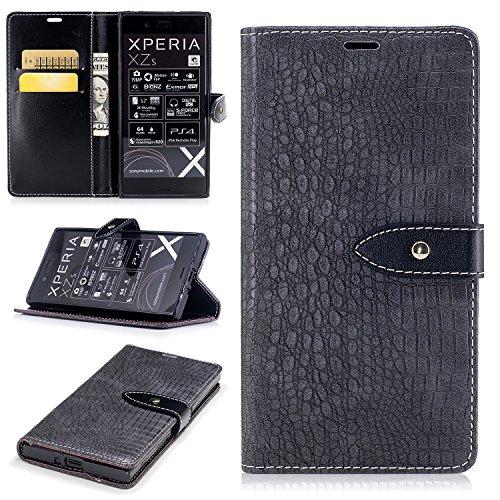 Nancen Wallet Case Hülle für Sony Xperia XZ XZS (5,2 Zoll),Pfeilmarkierung-Magnet,Krokodilhaut...