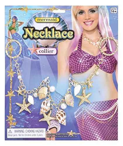 Und Seemann Meerjungfrau Kostüm - Meerjungfrau Halskette Schmuck Zubehör für Märchen See seemanns Kostüm Schmuck