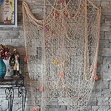 Miyare - Rete da pesca cucita a mano / decorazione per la tua casa o ristorante, stile mediterraneo, colore: 1.5M*2M bianco