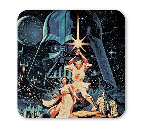 Star Wars Untersetzer - Krieg der Sterne - May The Force Be With You - Star - farbig - Lizenziertes Originaldesign - LOGOSHIRT