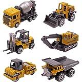 Dreamon Coches y Camión de Juguete , Pack de 6 Vehículos para Niños de 2 3 4 Años