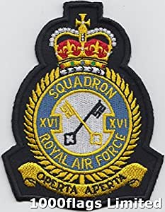 Nr. 16Squadron Royal Air Force RAF Patch Badge bestickt