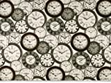 Dekostoff, Zeit-Uhren, multicolor, 140cm - Best Reviews Guide