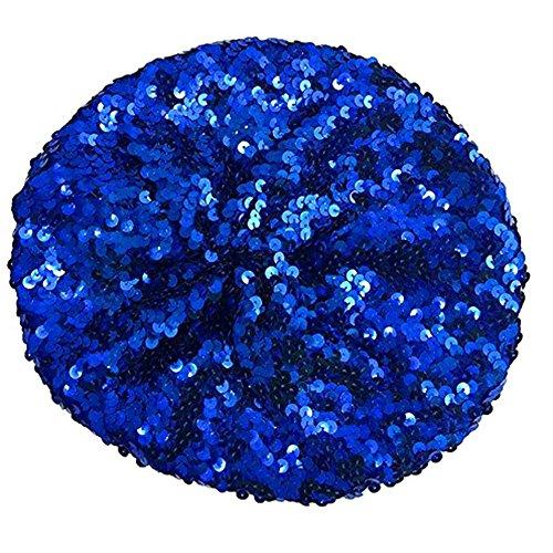 ABBA Blue Eurovision Sequin Beret Hat