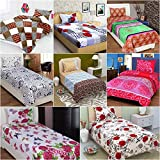 Akshya Cotton Bed Sheet (100% Cotton Ahemdabad Cotton Floral Traditional Offer 8 Single Bed Sheet With 8 Pillow Cover Combo Offer)