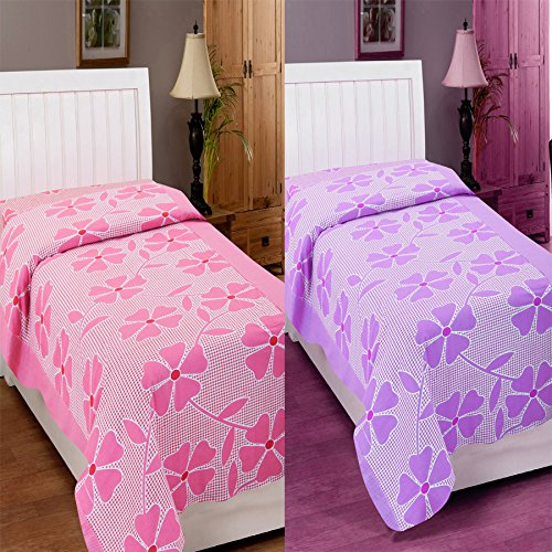 Zesture Bring Home 100 % cotton Floral single bedsheet cum topsheet combo -(142 x 225 cms,multicolor)  available at amazon for Rs.499
