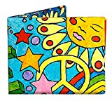 Peace and Love Mighty Tyvek WALLET CARTERA by Dynomighty Designs