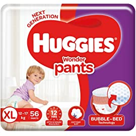 Huggies Wonder Pants, Extra Large  XL  Size Diapers, 56 Count