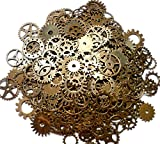 ASVP Shop Retro Clock Gears for Making Crafts, 100 g, Gold