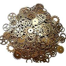 ASVP Shop Steampunk Cyberpunk Uhrenteile zum ® Teile-GETRIEBE ZAHNRÄDER rollen zum Herstellen von Schmuck, Basteln Arts, Kupfer 100g