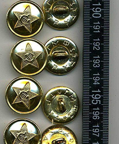 8 Stk original Bronze Knöpfe Russichen Armee Sowjetarmee Russland Uniformknöpfe - Bronze 8 Arm