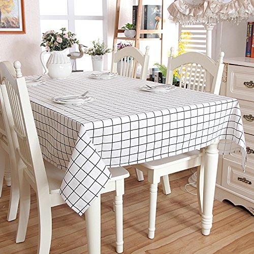 Saebye Leinendecke Tischdecken, Tischdecke abwaschbar schmutzabweisend Farbe Größe Wählbar,...