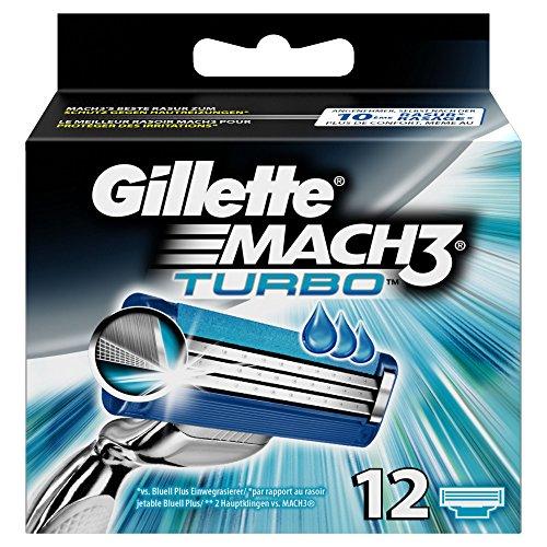 Gillette Mach3 Turbo Rasierklingen Für Männer, 12Stück