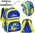 Unbekannt Schulranzen / Rucksack - Minions - Ich einfach unverbesserlich - SUPERLEICHT & ergonomisch + anatomisch - großer Schulrucksack - mit Reflektor - Tasche - ..