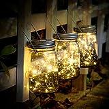 SUNNOW Luz Solar Jardín - Juego de 3 Lámparas Solares, 30 Luces LED de Hadas, Luces De Jardin Solares, Impermeable Interiores