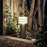 Philips Hue LED Sockelleuchte Tuar Stahl Gebürstet inkl. Hue White | Hue-Wegeleuchte, Gartenleuchte
