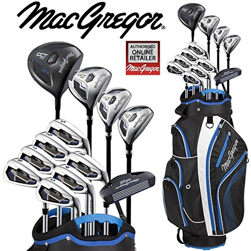 Macgregor DCT2000Herren Golf Set Deluxe Cartbag Paket-Set Eisen mit Stahlschaft + Gratis Regenschirm & Gesellschaft Tee Pack Wert von €24