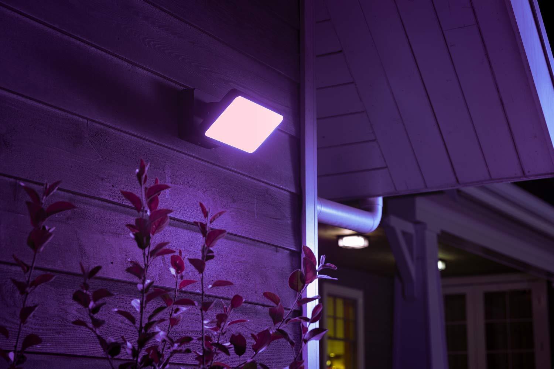 Philips Hue White and Color Ambiance Discover Proiettore per Esterni con Led Integrato, Nero