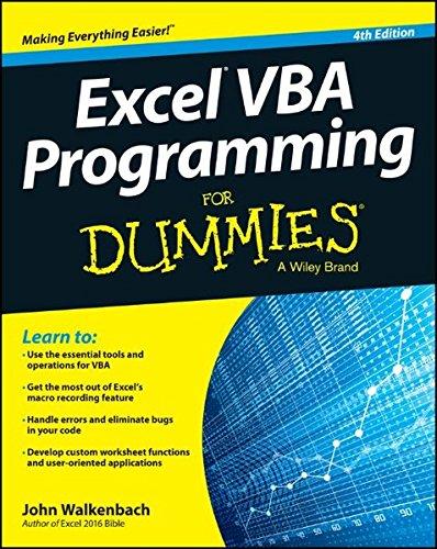 Preisvergleich Produktbild Excel VBA Programming For Dummies