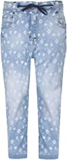 Life by Shoppers Stop Girls 5 Pocket Printed Jeans