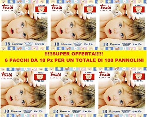 Scheda dettagliata Pannolini Trudi Taglia 4 7/18 Kg (6 Pacchi da 18pz) 108pz