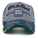 #7: Handcuffs Unisex Denim 1969 Vintage Baseball Cap (Blue)
