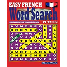 EASY FRENCH Word Search Puzzles. Vol. 4
