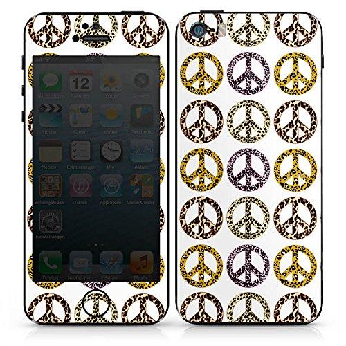 Apple iPhone SE Case Skin Sticker aus Vinyl-Folie Aufkleber Frieden Peace Muster DesignSkins® glänzend