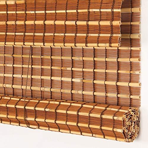 GLJJQMY Rollo Bambus Vorhänge leicht anzuheben, horizontale Vorhänge, Sonnenschutz, Filter, Jalousien, halbprivate Jalousien, Seitenzug, Kindersicherheit, Bambus, a, 60x130