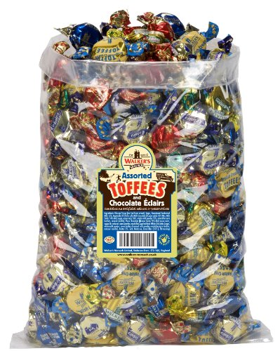WALKERS NONSUCH Assorted Toffees and Chocolate Eclairs Bulk Bags 2.5 kg