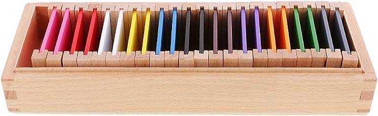 Segolike Montessori Sensorial Material Toy Color Box Kids Educational Color Learning - Wood, Medium