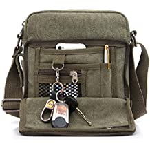 Outreo Borsa Tracolla Uomo Borse da Spalla di Tela Canvas Messenger Bag  Vintage Sacchetto di Tablet f79937c4d74