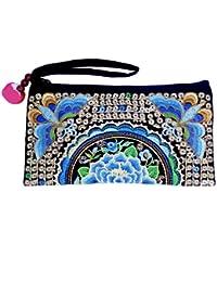 Sabai Jai Ethnic Clutch Purse Handbag For Women Embroidered Boho Flower Wristlet For Girls Handmade Bag