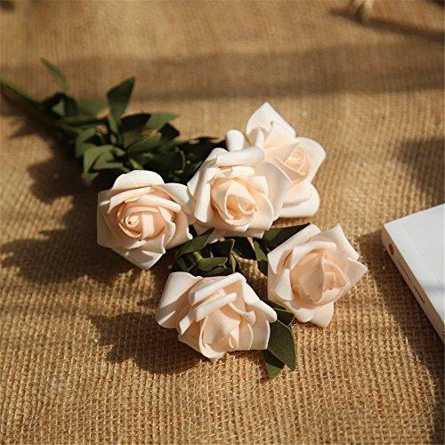 Andouy artificiale pe fiori finti rose floral bouquet da sposa ortensia da sposa decor