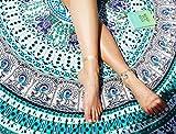 Green Indian Round Mandala Peacock Roundie Beach Tapestry Throw Hippie Boho Gypsy Tablecloth Cotton Beach Towel