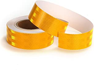Laps of Luxury Superior Quality Imported 50.8 mm (2 Inches) Reflective Tape - 7.31 Meter (24 Ft.) Yellow Strip