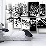 murando - Fototapete Schwarz Weiß 400x280 cm - Vlies Tapete - Moderne Wanddeko - Design Tapete - Wandtapete - Wand Dekoration - Abstrakt 3D Baum Love h-A-0089-a-a