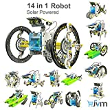 #8: 14 in 1 Solar Robot Kit Educational Toy Assembled puzzle Toys Car Boat Animal blocks For Kid boy girl Gift Skill Development Toys