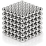 Peecure Stainless Steel Magnetic Toys Balls Fidget Under Reduced Pressure,Magnetic Buck Balls Sculpture Creative Learning Educational Toys Home Office Decoration Building Blocks Puzzle For Intelligence Development And Anxiety Stress Relief (5MM Set Of 216