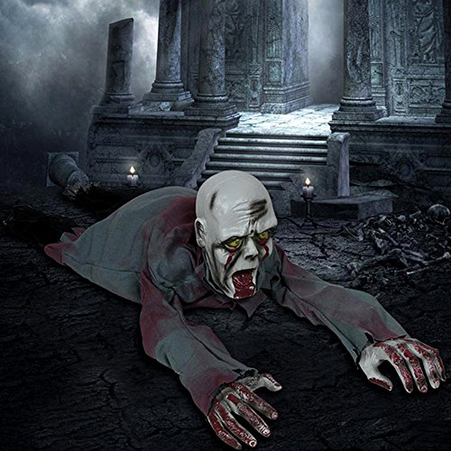 Halloween Haus (Halloween Deko Figur Zombie Kriechend Gruselig Halloween Haus Garten)